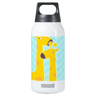 Giraffe on zigzag chevron - Pastel Blue SIGG Thermo 0.3L Insulated Bottle