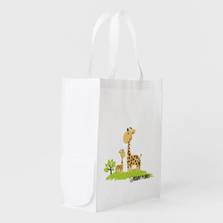 Giraffe Organic Planet Canvas Reusable Bags Grocery Bags