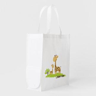 Giraffe Organic Planet Canvas Reusable Bags Reusable Grocery Bag