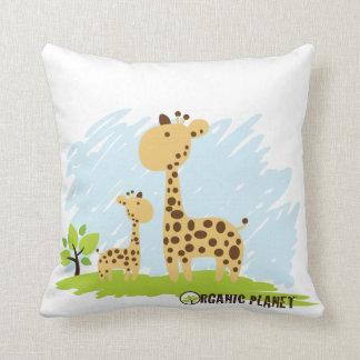 Giraffe Organic Planet Custom Cotton Pillows