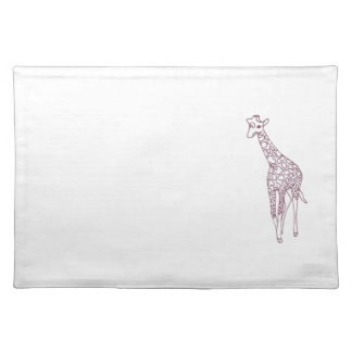Giraffe Outline Drawing Coloring Placemats
