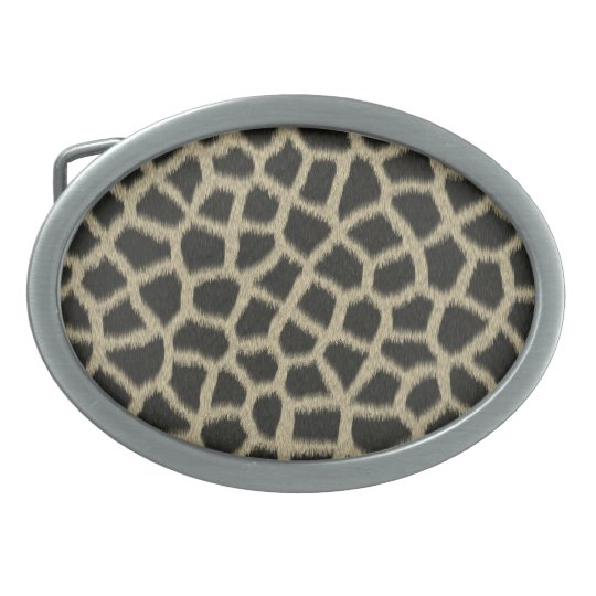 Giraffe Oval Belt Buckle