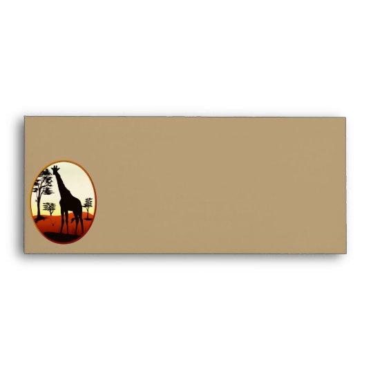 Giraffe Oval Evelopes Envelope