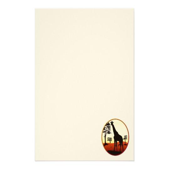 Giraffe Oval Stationary Stationery