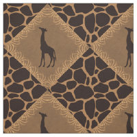 Giraffe Over Animal Print Fabric