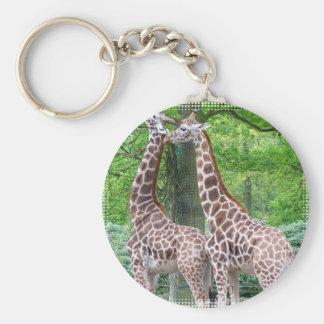 Giraffe Pair Keychain