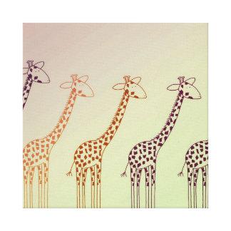Giraffe Parade Canvas Print