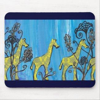 Giraffe Parade mousepad