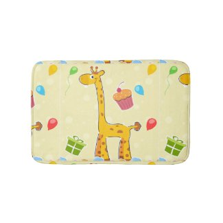 Giraffe Party Bath Mat