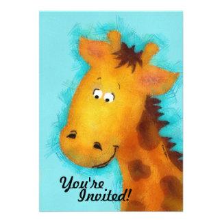Giraffe Party Personalized Invitations