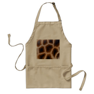 Giraffe Patches Spotted Skin Texture Template Adult Apron