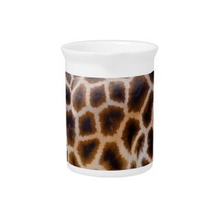 Giraffe Patches Spotted Skin Texture Template Drink Pitcher