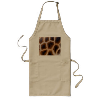 Giraffe Patches Spotted Skin Texture Template Long Apron