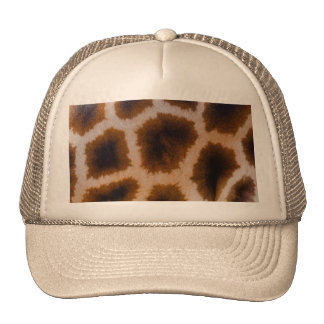 Giraffe Patches Spotted Skin Texture Template Trucker Hat