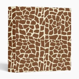 Giraffe pattern animal print binder