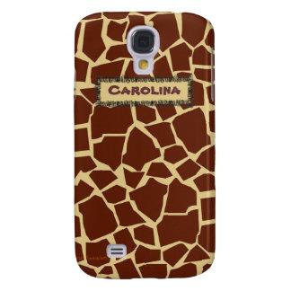 Giraffe Pattern Animal Print Custom Name Skin Case