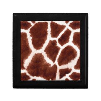 Giraffe Pattern Animal Print Keepsake Box
