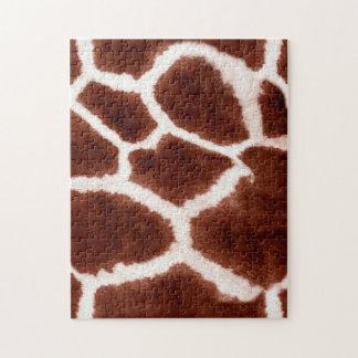Giraffe Pattern Animal Print Jigsaw Puzzle