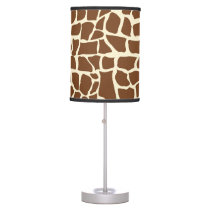 Giraffe pattern animal print table lamp