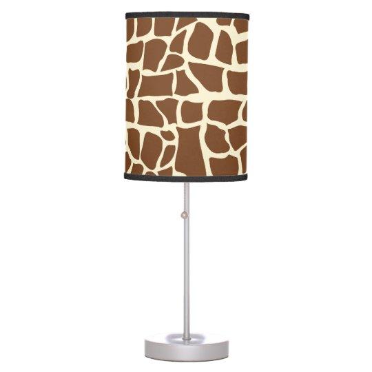 Giraffe Pattern Animal Print Table Lamp, Giraffe Print Floor Lamp
