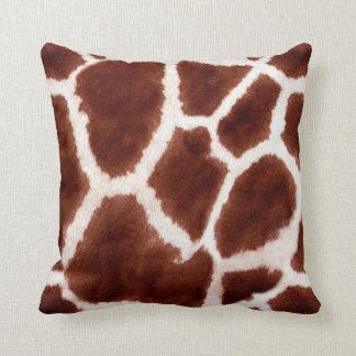 Giraffe Pattern Animal Print Throw Pillow
