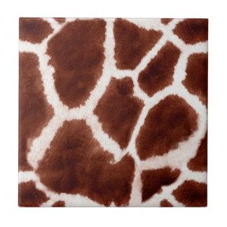 Giraffe Pattern Animal Print Tile