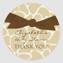 Giraffe Pattern Baby Shower Stickers