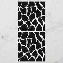 Giraffe Pattern Black & White