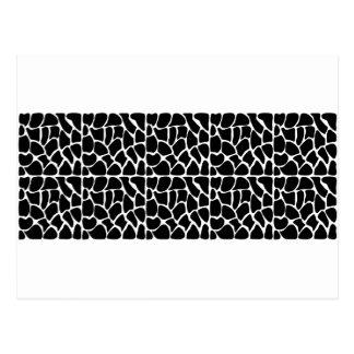 Giraffe Pattern Black & White Post Cards