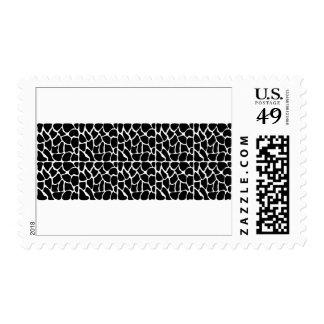 Giraffe Pattern Black & White Postage Stamps