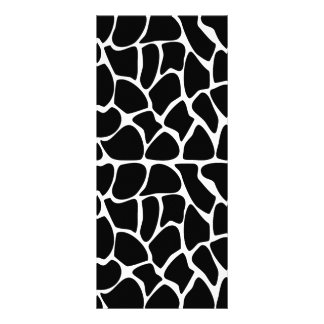 Giraffe Pattern Black & White Rack Cards