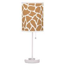Giraffe Pattern Brown Animal Print Design. Desk Lamp