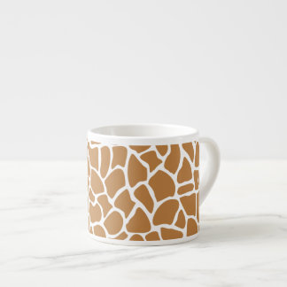 Giraffe Pattern Brown Animal Print Design. 6 Oz Ceramic Espresso Cup