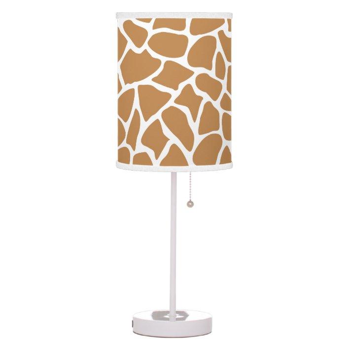 Giraffe Pattern Brown Animal Print, Giraffe Print Floor Lamp