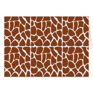Giraffe Pattern. Brown. Cards