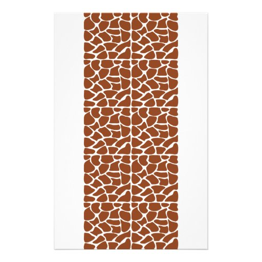 Giraffe Pattern. Brown. Flyer