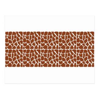 Giraffe Pattern. Brown. Post Card