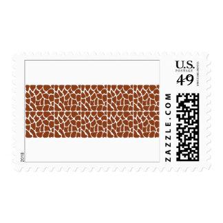 Giraffe Pattern. Brown. Stamp