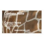 Giraffe Pattern Business Card