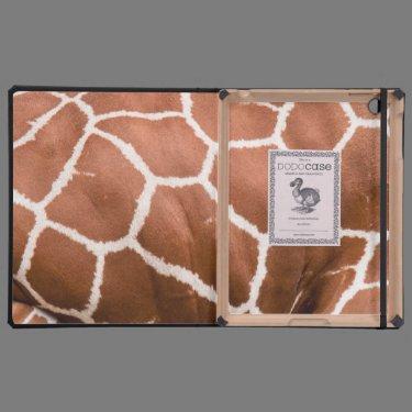 Giraffe pattern case for iPad