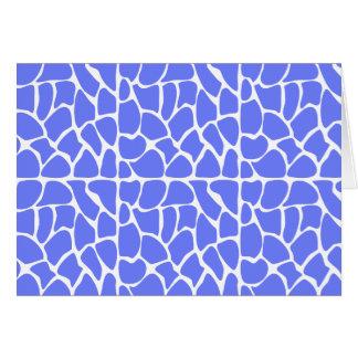 Giraffe Pattern. Cornflower Blue. Greeting Card