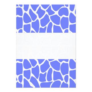 Giraffe Pattern. Cornflower Blue. Invitations