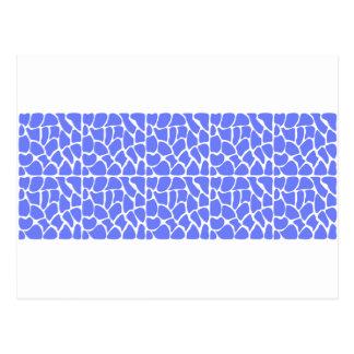 Giraffe Pattern. Cornflower Blue. Postcard