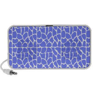Giraffe Pattern. Cornflower Blue. Laptop Speaker