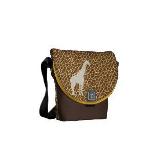Giraffe Pattern Courier Bag