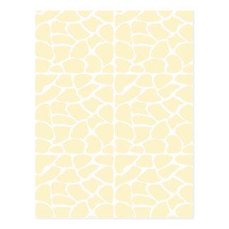 Giraffe Pattern. Cream Color Post Card