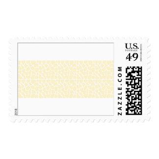 Giraffe Pattern. Cream Color Postage Stamp