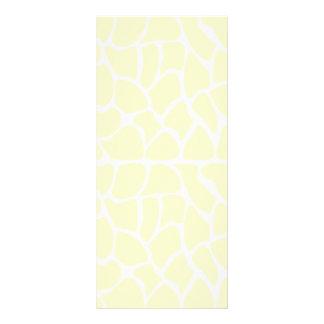 Giraffe Pattern. Cream Color Rack Cards