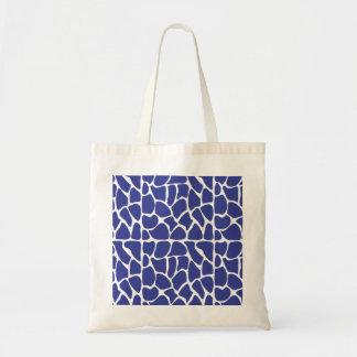 Giraffe Pattern Dark Blue Canvas Bag