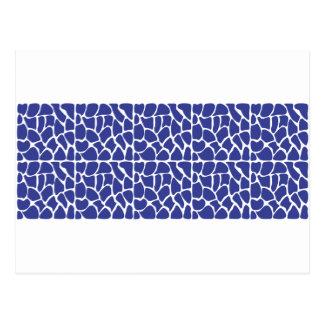 Giraffe Pattern. Dark Blue. Post Cards